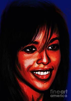 Aaliyah  Poster by Andrzej Szczerski