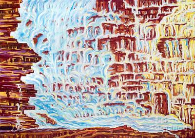 Aathabasca Falls Jasper National Park Poster by Jo-Anne Elniski