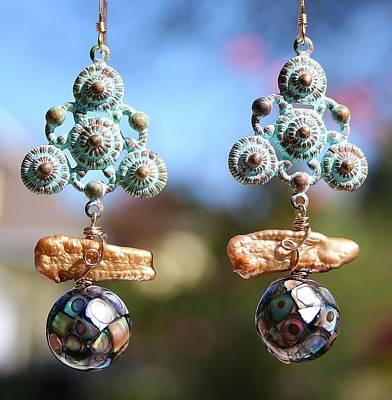 Abalone Mosaic Earrings Poster