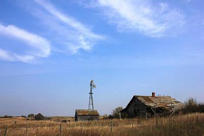 Abandoned Alberta Prairie Home Poster