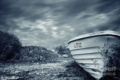 Abandoned Boat Poster by Stelios Kleanthous