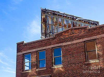 Abandoned Building With Billboard Poster by Diane Diederich