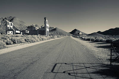 Abandoned Buildings In Rhyolite Ghost Poster by Panoramic Images