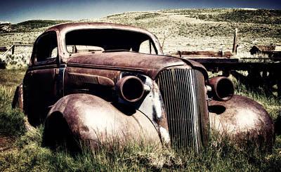 Abandoned Car Hull Poster