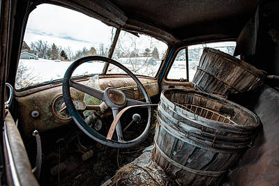 Poster featuring the photograph Abandoned Chevrolet Truck - Inside Out by Gary Heller