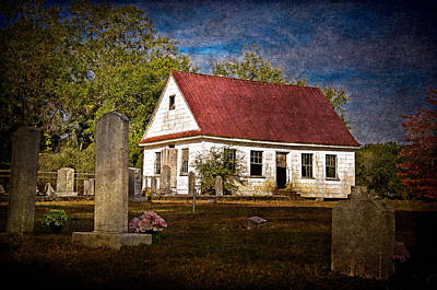 Abandoned Church And Graves Poster