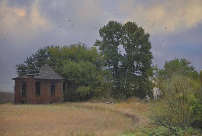 Abandoned Country House In Rural Northwest Iowa Poster