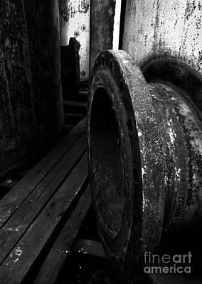 Abandoned Denaturing Tanks V - Bw Poster by James Aiken