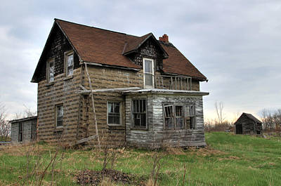 Poster featuring the photograph Abandoned Homestead by Jim Vance