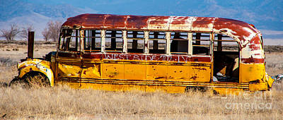 Abandoned Metro Bus - Rural Utah Poster by Gary Whitton