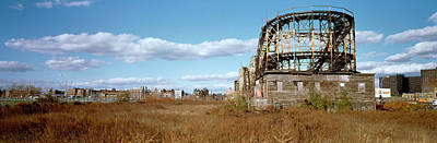 Abandoned Rollercoaster In An Amusement Poster by Panoramic Images