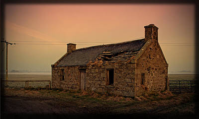 Poster featuring the photograph Abandoned Scottish Croft by Liz  Alderdice