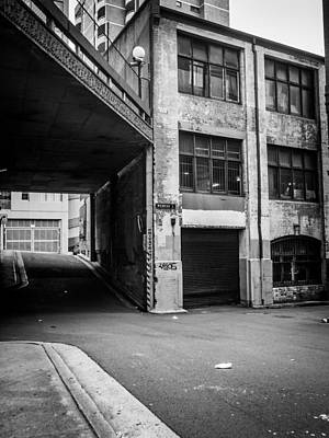 Abandoned Warehouse Black And White Poster
