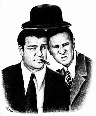 Abbott And Costello Poster by Andrew Read