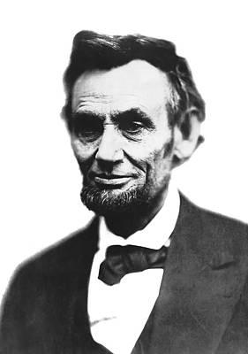 Abe Lincoln Last Portrait  Feb 1865 Poster by Daniel Hagerman