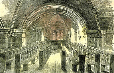 Aberdeen East Church The Crypt 1885 Uk Poster by English School
