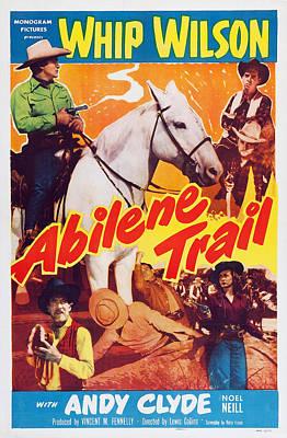 Abilene Trail, Top From Left Whip Poster by Everett