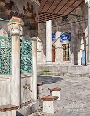 ablution taps at sokullu pasa camii Mosque Poster