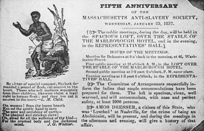 Abolition Meeting, 1837 Poster