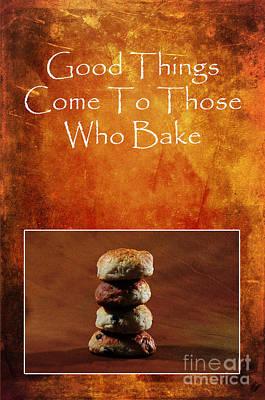 About Baking Poster by Randi Grace Nilsberg