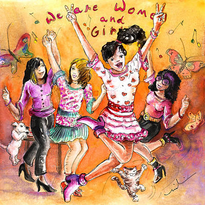 About Women And Girls 21 Poster by Miki De Goodaboom