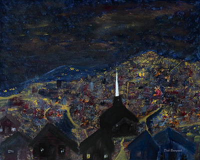 Above The City At Night Poster