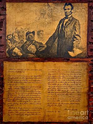 Abraham Lincoln The Gettysburg Address Poster