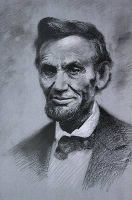 Poster featuring the drawing Abraham Lincoln by Viola El