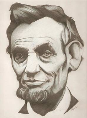 Abraham Lincoln Drawing Poster by Robert Crandall