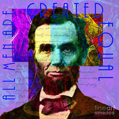 Abraham Lincoln Gettysburg Address All Men Are Created Equal 2014020502m128 Poster