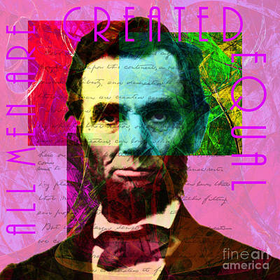 Abraham Lincoln Gettysburg Address All Men Are Created Equal 2014020502m68 Poster