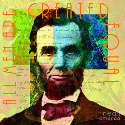 Abraham Lincoln Gettysburg Address All Men Are Created Equal 2014020502p28 Poster