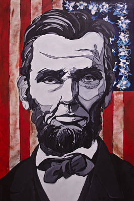 Poster featuring the painting Abraham Lincoln by John Gibbs