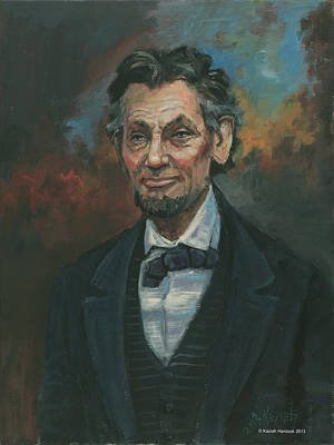 Abraham Lincoln Poster by Kaziah Hancock