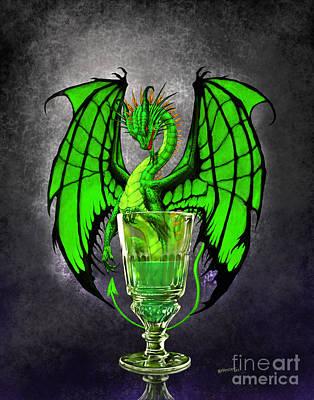 Absinthe Dragon Poster