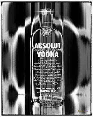Absolut Black And White Poster