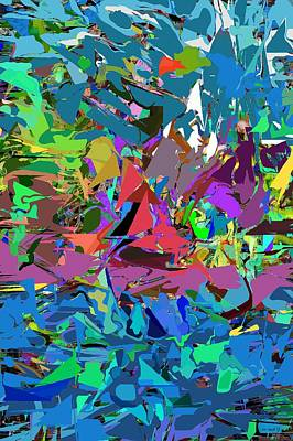 Poster featuring the digital art Abstract 011515 by David Lane