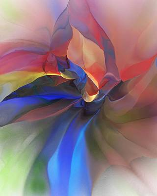 Poster featuring the digital art Abstract 121214 by David Lane