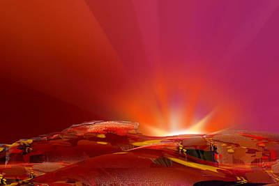 Abstract - Alien Sunrise Poster by rd Erickson