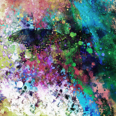 abstract art Butterfly Collage Poster