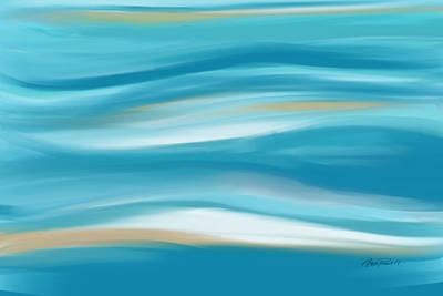 abstract - art-  Contemplation  Poster by Ann Powell