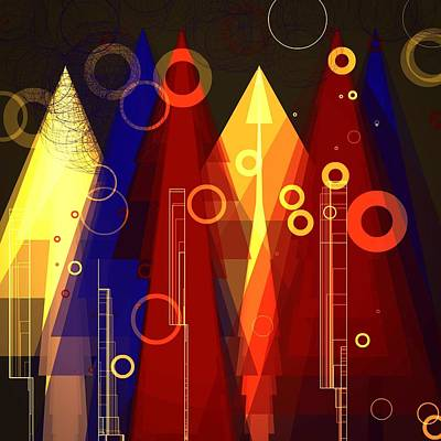 Abstract Art Deco Poster