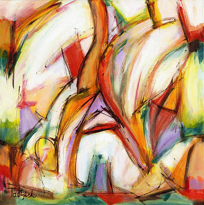 Abstract Art Forty-five Poster by Lynne Taetzsch