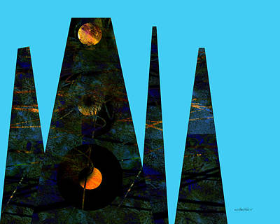 abstract - art- Mystical Moons  Poster by Ann Powell
