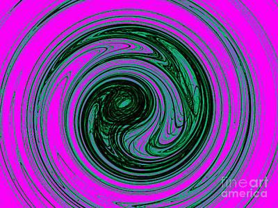 Abstract Art - Spiral Poster by Merton Allen