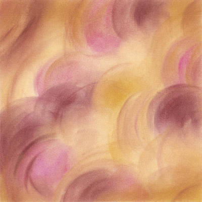 Abstract Artwork Rose Yellow Fuchsia Poster by Beverly Brown