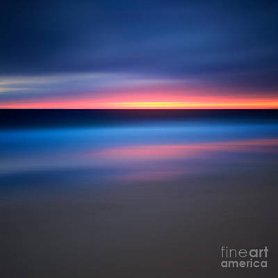 Abstract Beach Sunset Poster by Katherine Gendreau