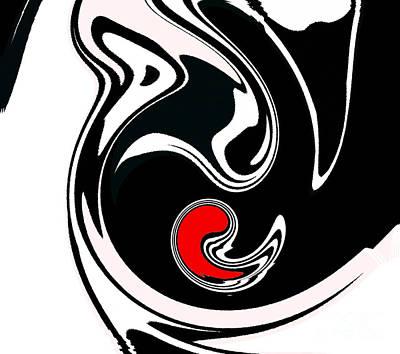 Abstract Black White Red Geometric Art No.384. Poster by Drinka Mercep