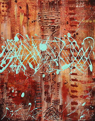 Abstract Brown Poster