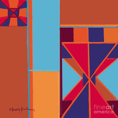 Abstract Tangerine Medoly Poster by Dessie Durham
